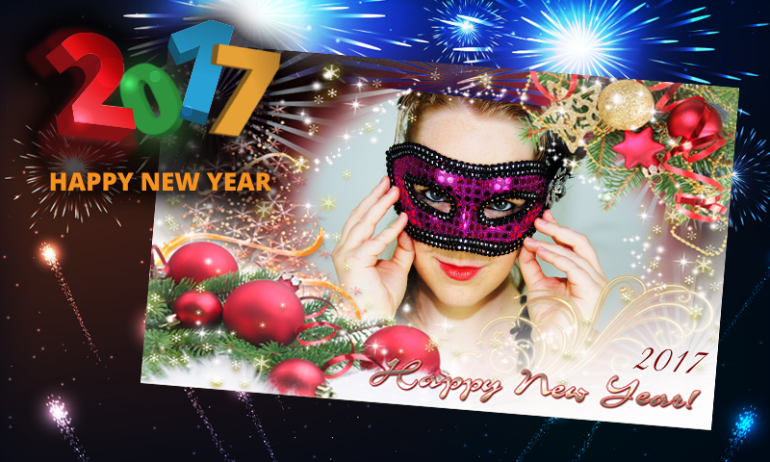 Happy New Year photo frame app