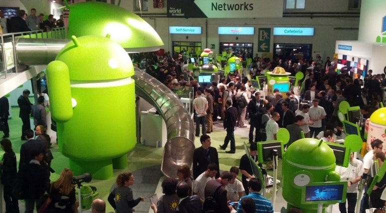 Android stall at Mobile World Contress