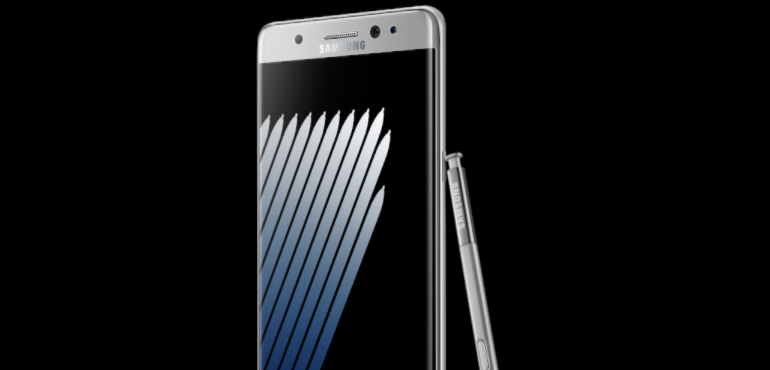 Samsung Galaxy Note 7 angled stylus