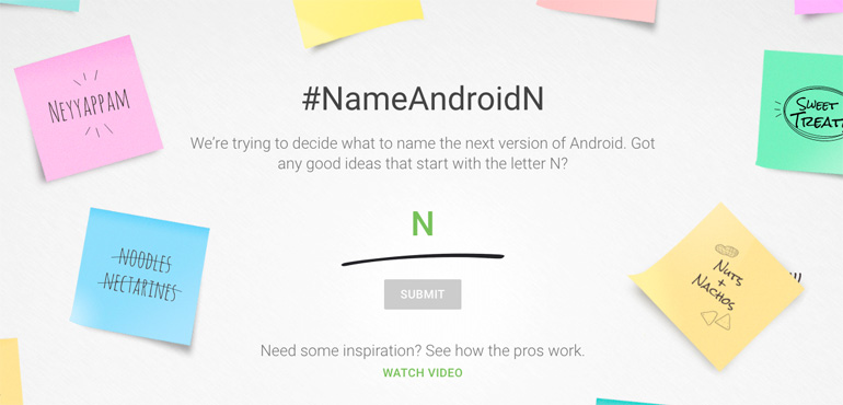 Android N: Google asks users for name suggestions