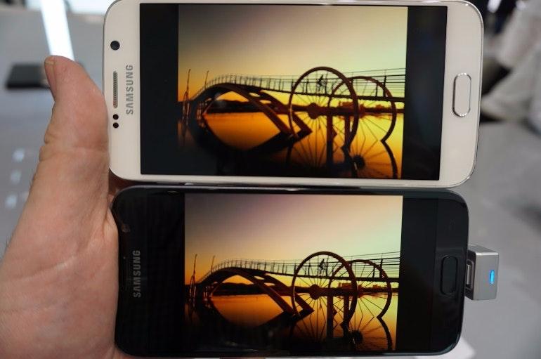 samsung galaxy s7 vs s6 screen comparison bigger
