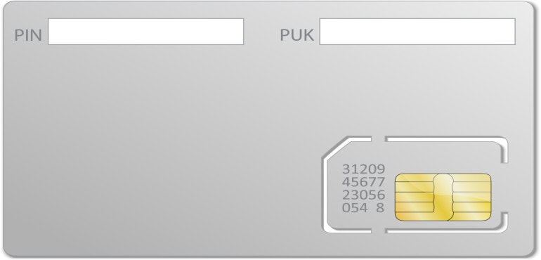 Phone unlocking PUK code SIM