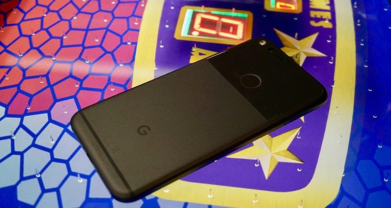 Google pixel hockey table back