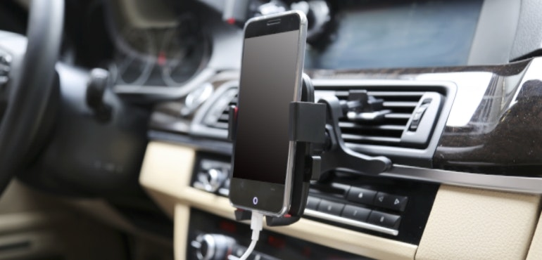 Hands-free phone in the car