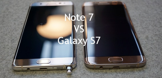 Samsung Galaxy Note 7 vs Samsung Galaxy S7 head to head review