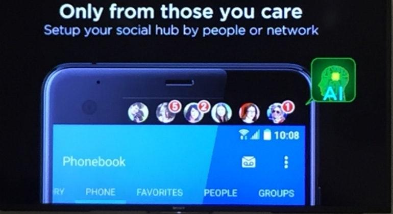HTC U Ultra second screen