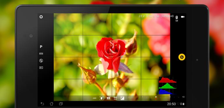 Android smartphone camera exposure