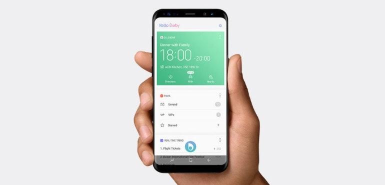 Bixby homescreen on Galaxy S8
