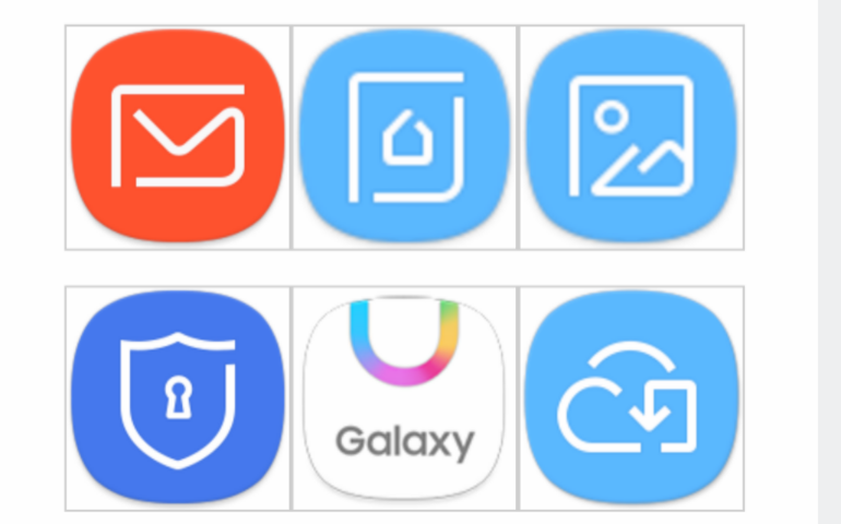 Samsung Galaxy S8 icons
