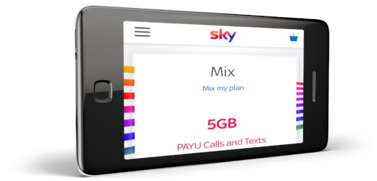 Sky Mobile phone using mix feature