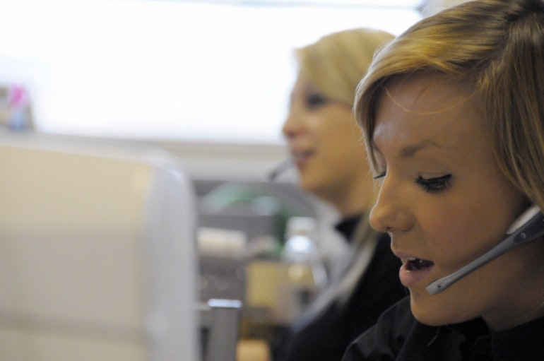 Call centre customer support service