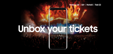 Samsung Unbox your Tickets: free tickets when you buy an S8 or Note 8