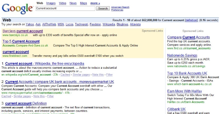 google paid search