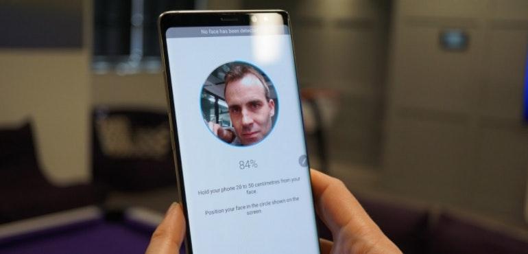 Samsung Galaxy Note 8 facial recognition tech hero size