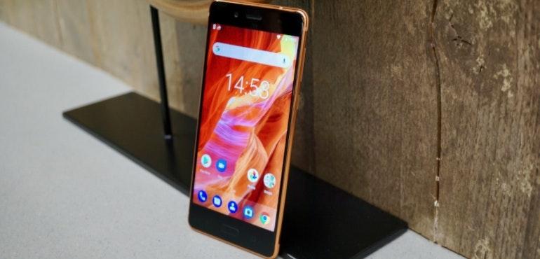 Nokia 8 hero size stood up