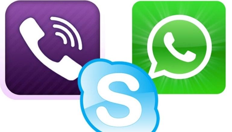 Skype, Viber and Whatsapp
