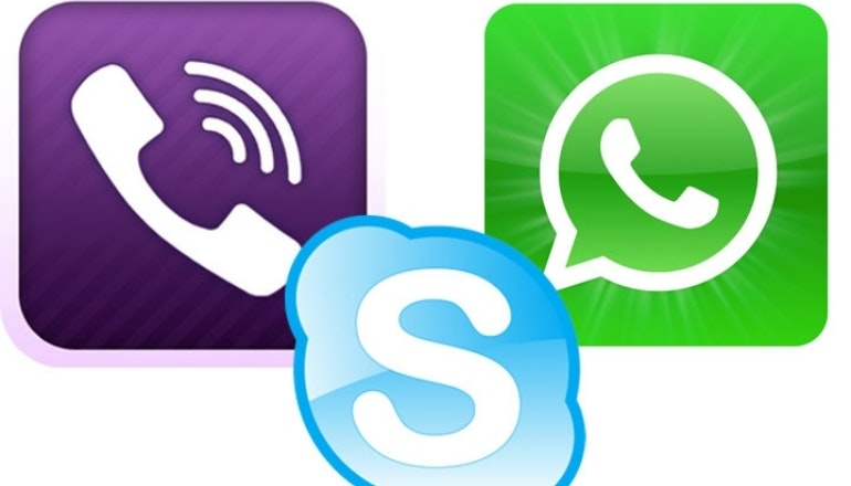 Skype, Viber and Whatsapp