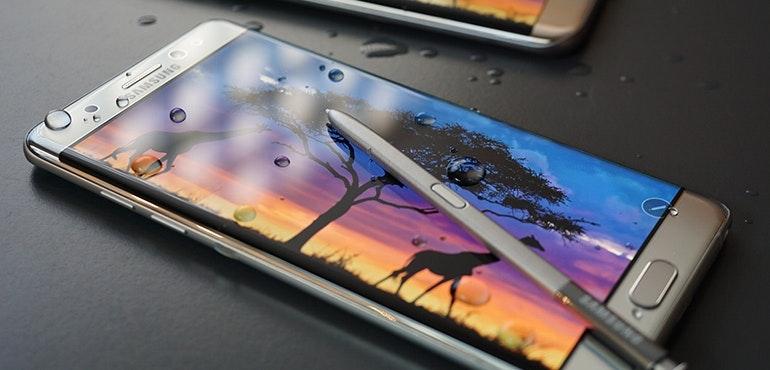 Samsung Galaxy Note 7 vs S7 screen waterproof