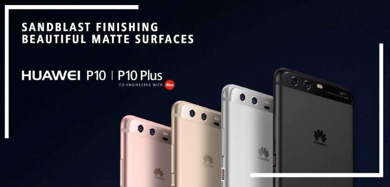 Huawei P10 build and colours