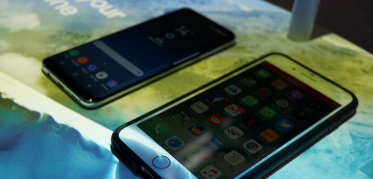 Galaxy S8 vs iPhone 7 hero