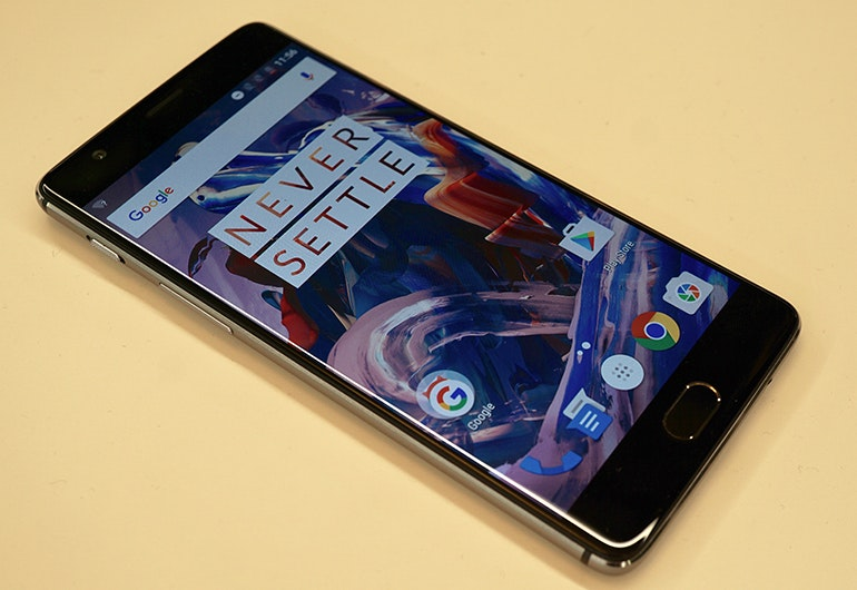 oneplus 3 front angled