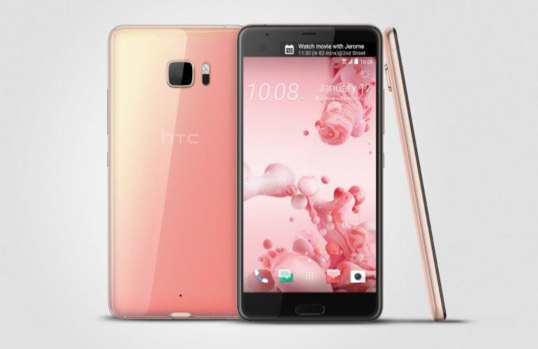HTC U Ultra pink