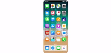 iPhone 8 home screen teased in mock-up photo