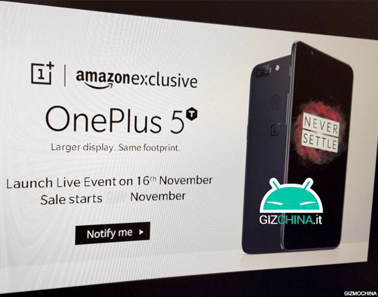 OnePlus 5t amazon listing leak