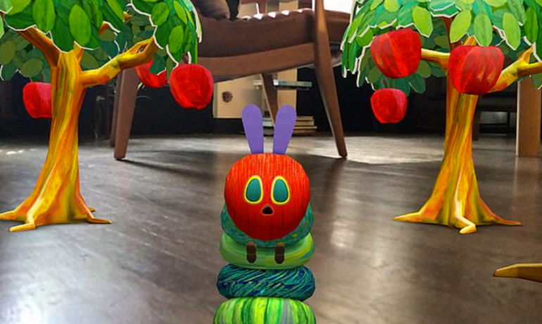 iphone apple augmented reality catepillar