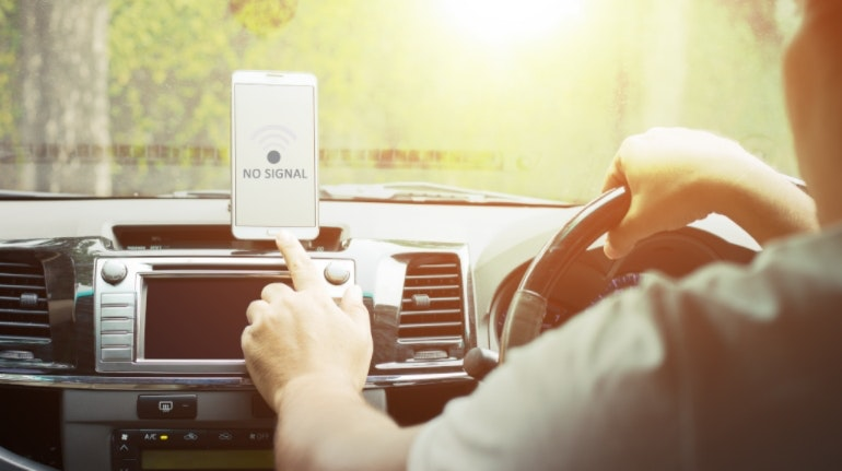 mobile phone coverage gps car