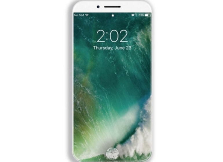iPhone 8 concept no home screen
