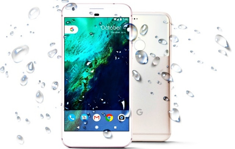 Google Pixel water