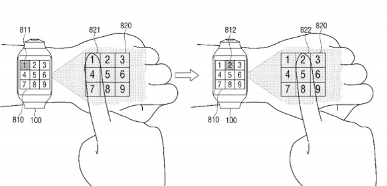 Samsung smartwatch could project screen onto different surfaces