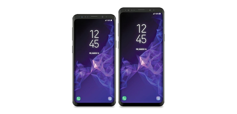 Samsung Galaxy S9 and S9 Plus hero size