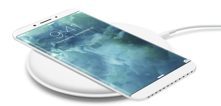 iPhone 8 wireless charging concept