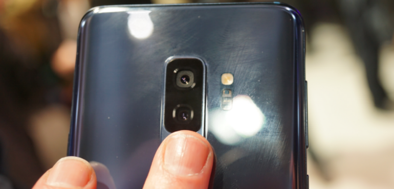 Samsung Galaxy S9 fingerprint scanner hero size