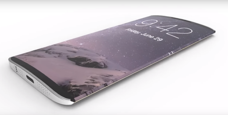 iPhone 8 concept curved screen